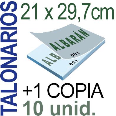 Autocopiativo -  21x29,7 cms -A4-  1,000 unidades Original + Copia - agrupadas en 10 Talonarios - Numerados