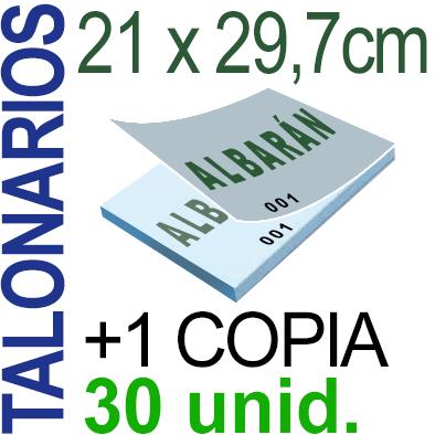 Autocopiativo -  21x29,7 cms -A4-  3,000 unidades Original + Copia - agrupadas en 30 Talonarios - Numerados