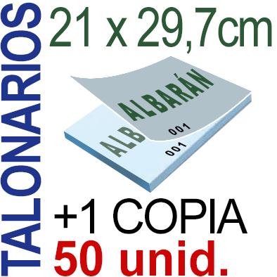 Autocopiativo -  21x29,7 cms -A4-  5,000 unidades Original + Copia - agrupadas en 50 Talonarios - Numerados