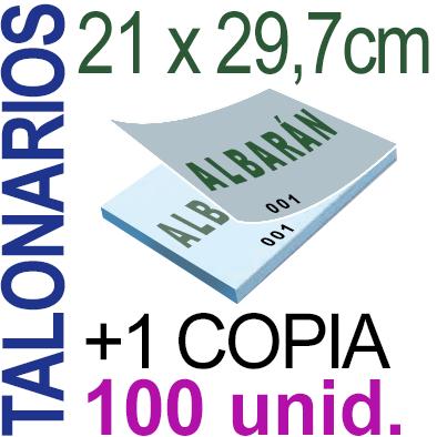 Autocopiativo -  21x29,7 cms -A4-  10,000 unidades Original + Copia - agrupadas en 100 Talonarios - Numerados