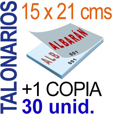 Autocopiativo -  15x21 cms -A5-  3,000 unidades Original + Copia - agrupadas en 30 Talonarios - Numerados