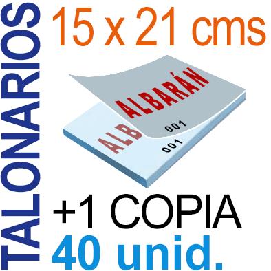 Autocopiativo -  15x21 cms -A5-  4,000 unidades Original + Copia - agrupadas en 40 Talonarios - Numerados