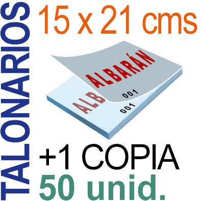 Autocopiativo -  15x21 cms -A5-  5,000 unidades Original + Copia - agrupadas en 50 Talonarios - Numerados