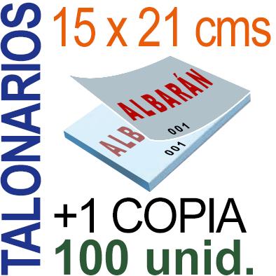 Autocopiativo -  15x21 cms -A5-  10,000 unidades Original + Copia - agrupadas en 100 Talonarios - Numerados