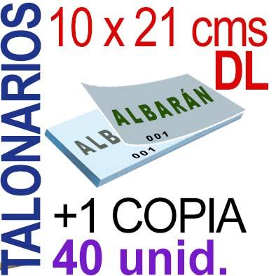 Autocopiativo -  10 x 21 cms -DL-  4,000 unidades Original + Copia - agrupadas en 40 Talonarios - Numerados