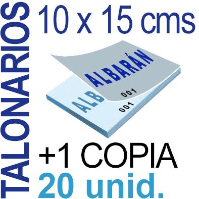 Autocopiativo -  10 x 15 cms - A6-  2,000 unidades Original + Copia - agrupadas en 20 Talonarios - Numerados