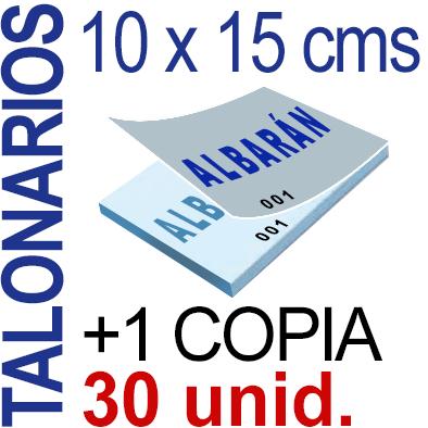 Autocopiativo -  10 x 15 cms -A6-  3,000 unidades Original + Copia - agrupadas en 30 Talonarios - Numerados