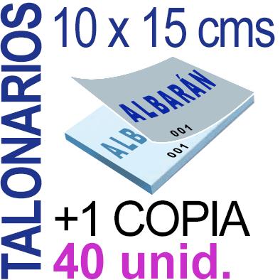 Autocopiativo -  10 x 15 cms - A6-  4,000 unidades Original + Copia - agrupadas en 40 Talonarios - Numerados