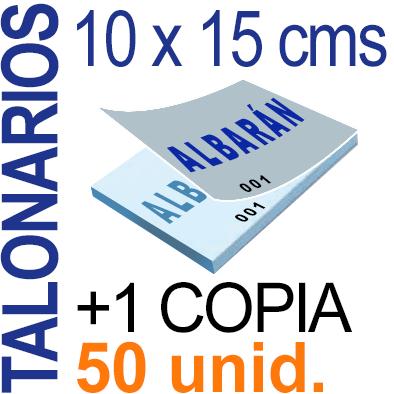 Autocopiativo -  10 x 15 cms - A6-  5,000 unidades Original + Copia - agrupadas en 50 Talonarios - Numerados