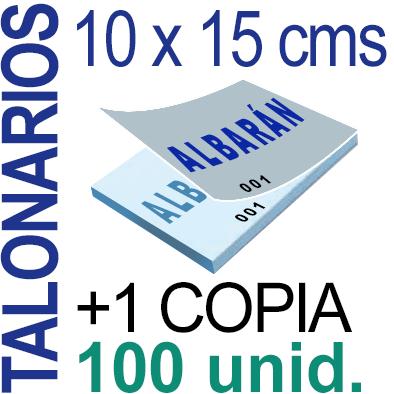 Autocopiativo -  10 x 15 cms -A6-  10,000 unidades Original + Copia - agrupadas en 100 Talonarios - Numerados