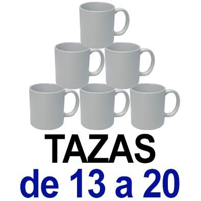 Tazas. De 13 a 20 tazas