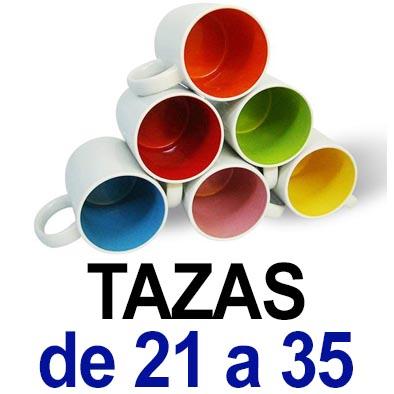 Tazas. De 21 a 35 tazas