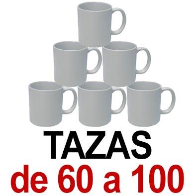 Tazas. De 60 a 100 tazas