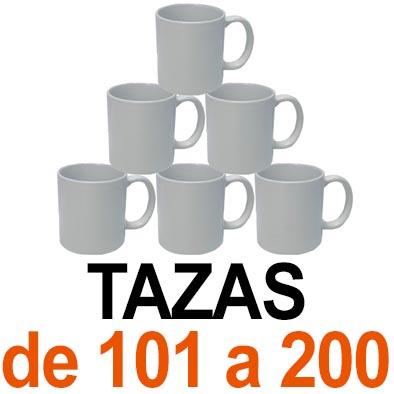 Tazas. De 101 a 200 tazas