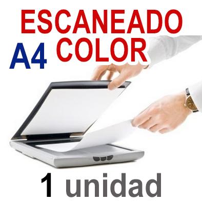 Escaneado A4. 1 UNIDAD