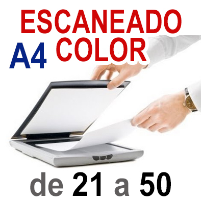 Escaneado color A4 de 21 a 50