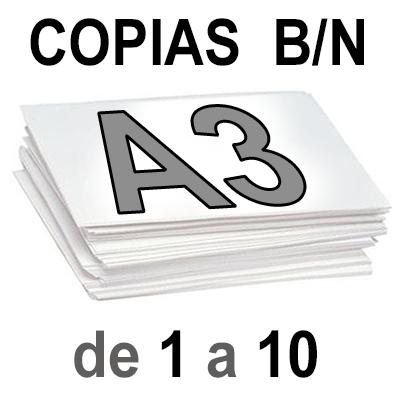 A3 Copias Blanco y Negro de 1 a 10