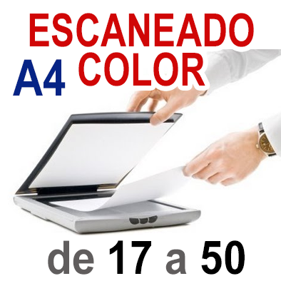 Escaneado color A4 de 17 a 50