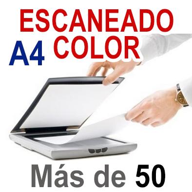 Escaneado color A4 más de 50