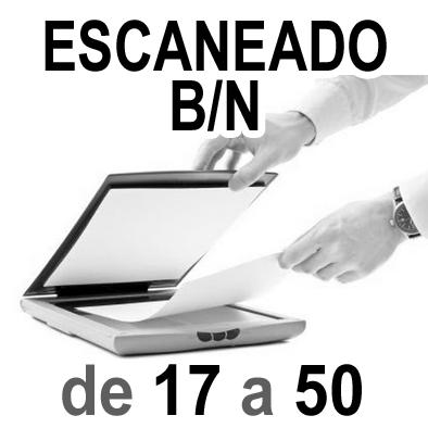 Escaneado Blanco y Negro A4 y A3 de 17 a 50