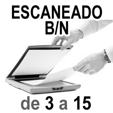 Escaneado Blanco y Negro  A4 y A3 de 3 a 15