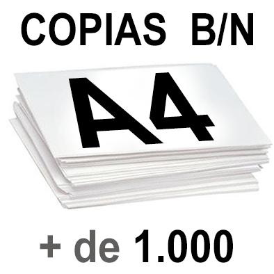 A4 Copias Blanco y Negro más de 1000