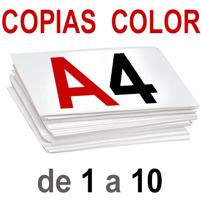 A4 Copias Color de 1 a 10