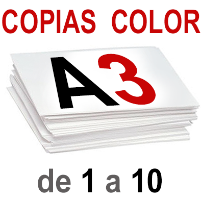 A3 Copias Color de 1 a 10
