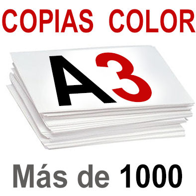 A3 Copias Color  más de 1.000