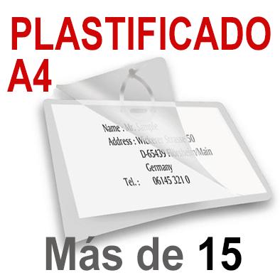 A4 Plastificado. Más de 15