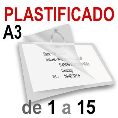 A3 Plastificado. De 1 a 15