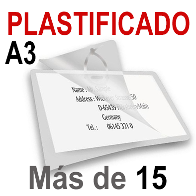 A3 Plastificado. Más de 15