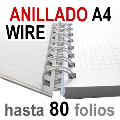 Anillado  Wire - A4 - Hasta 80 Folios