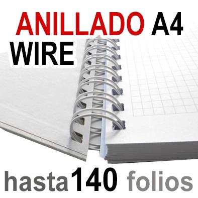Anillado  Wire - A4 - Hasta 140 Folios