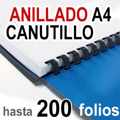 Anillado en Canutillo - A4 -Hasta 200 folios