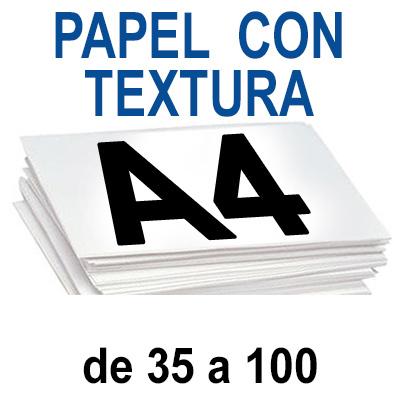 Papel Especial CON TEXTURA  A4 de 35 a 100 copias