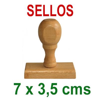 Sello Tradicional - Madera y Caucho - 7x3,5cms