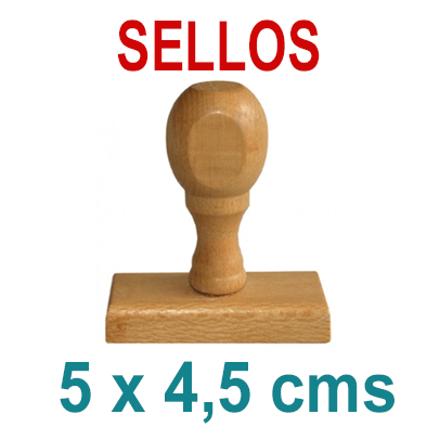 Sello Tradicional - Madera y Caucho - 5x4,5cms