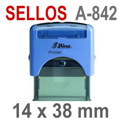 Sellos Automáticos A-842  14x38 mm  SHINY