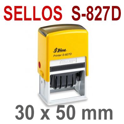 Sellos Automáticos para Fechas  S-827D  30x50mm  SHINY