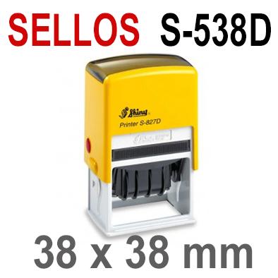 Sellos Automáticos para Fechas S-538D  38x38mm  SHINY
