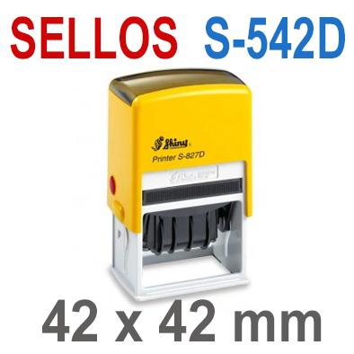 Sellos Automáticos para Fechas  S-542D  42x42mm  SHINY