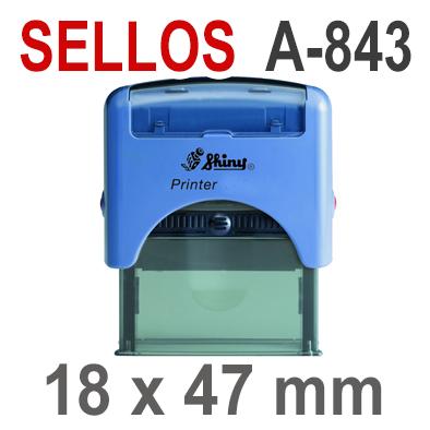 Sellos Automáticos A-843  18x47 mm  SHINY