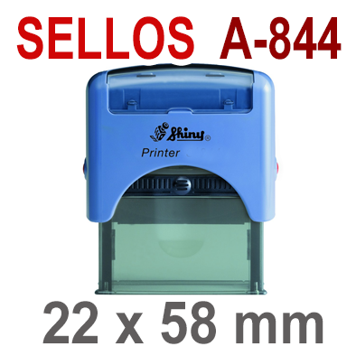 Sellos Automáticos A-844   22x58 mm  SHINY