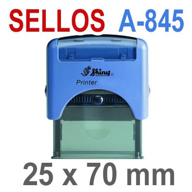 Sellos Automáticos A-845  25x70mm  SHINY
