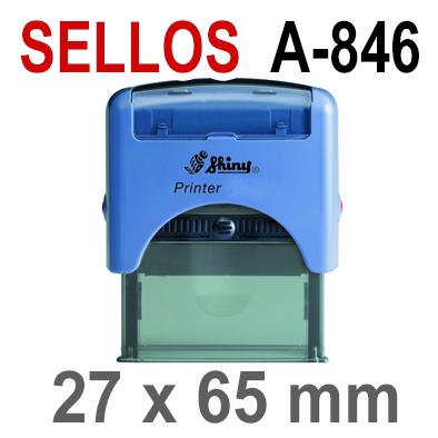 Sellos Automáticos A-846   27x65mm  SHINY