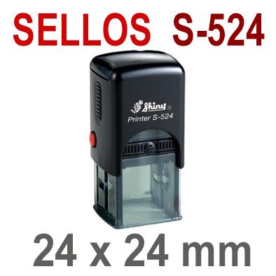 Sellos Automáticos S-524 24x24mm  SHINY