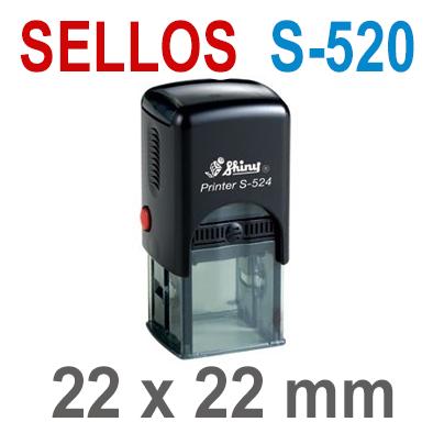 Sellos Automáticos S-520 22x22mm  SHINY