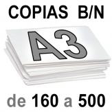 A3 Copias Blanco y Negro de 160 a  500