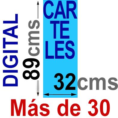 Cartel  89x32 - Más de 30  Impresión Digital en papel póster